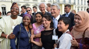 Humboldt Fellows with President Gauck at the annual meeting