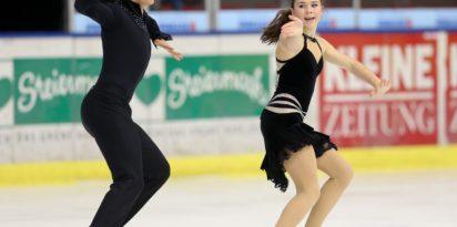 GRAZ,AUSTRIA,14.NOV.14 - FIGURE SKATING - ISU Challenger Series, Icechallenge 2014. Image shows Ria Schwendinger and Valentin Wunderlich (GER).   Verwendung weltweit